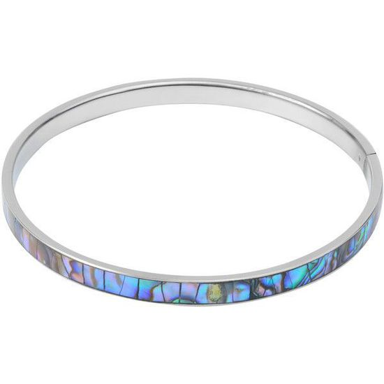 Paua Shell Bangle 5mm XS to XL