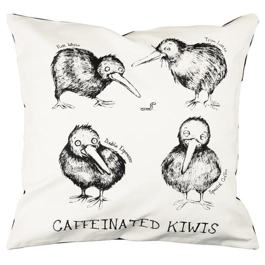 Caffeinated Kiwi Cushion Covers