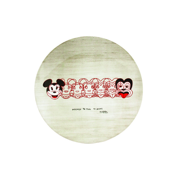 From Mickey to Tiki Melamine Plate by Dick Frizzell