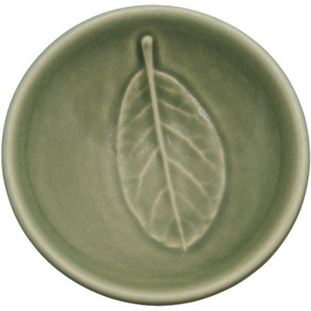 Dipping Bowl - Leaf Taraire - Celadon Green
