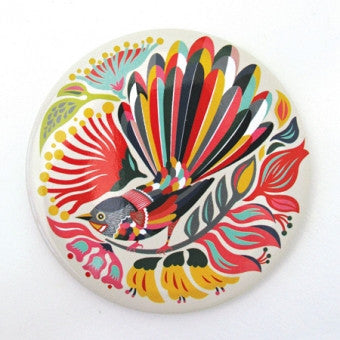 Pocket Mirror 'Colourful Fantail'