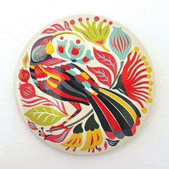 Pocket Mirror 'Colorful Huia'