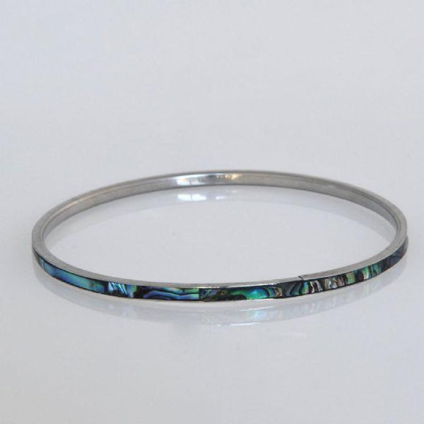 Paua Shell Bangle 3mm XS to XL