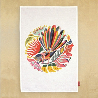 Tea Towel 'Colorful Fantail'