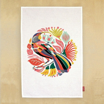 Tea Towel 'Colorful Huia'