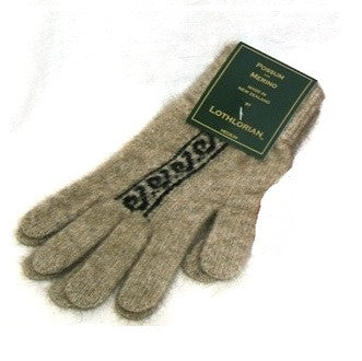 NZ Possum & Merino Koru Gloves - Natural