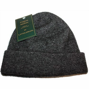 NZ Possum & Merino Plain Beanie - Charcoal