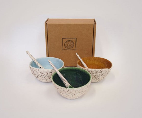 Boxed Swirl Bowl & Spoon
