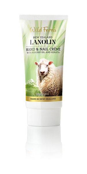 Lanolin Hand and Nail Creme with Rosehip Oil and Keratin