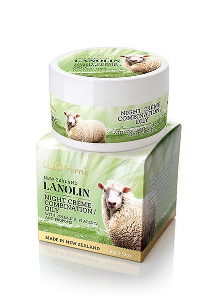 Lanolin Night Creme - Combination to Oily - with Collagen, Placenta and Propolis