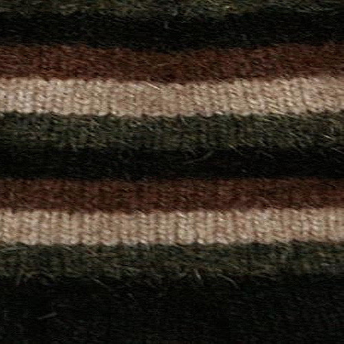 NZ Possum & Merino Multi Striped Socks - Black
