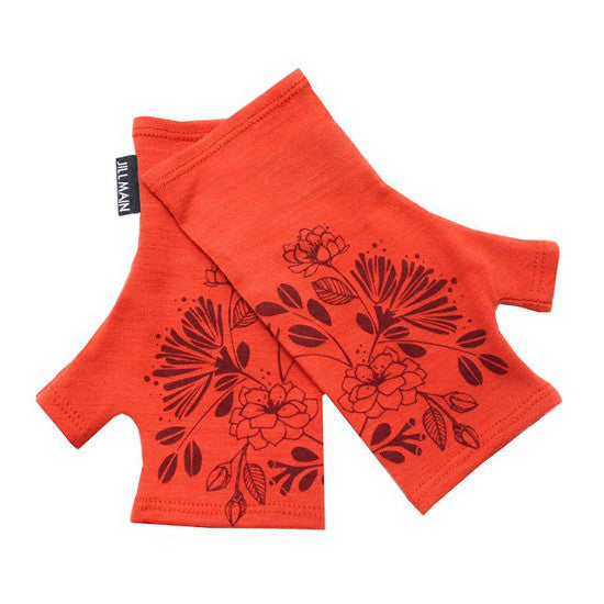 Mitts Pohutukawa and Wild Rose short - Paprika