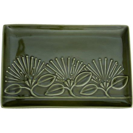 Pohutukawa Platter Moss Green Medium