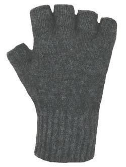 NZ Possum & Merino Fingerless Gloves - Charcoal