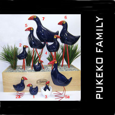 Pukeko Family Ceramic - Egg and chick