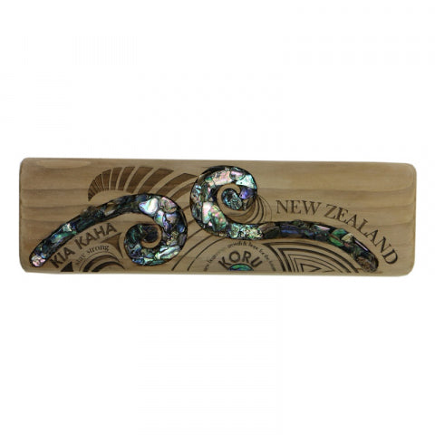 Recycle Wood Paua Koru
