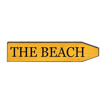 Classic Street Plaque - The Beach