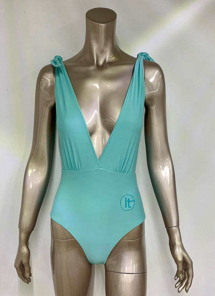 Aqua One Piece Swimsuit