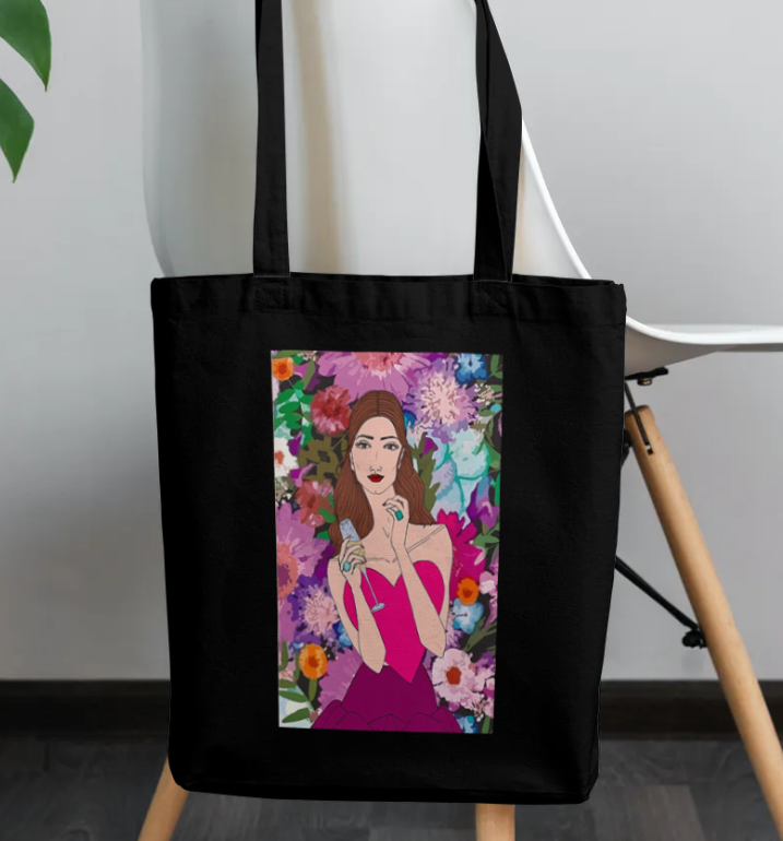 Champagne Girl Tote Bag