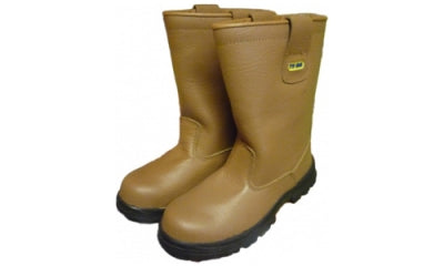 Tan Rigger Fur Lined Safety Boot Cat S1P ENR5 (Nottingham) - StepAhead Workwear