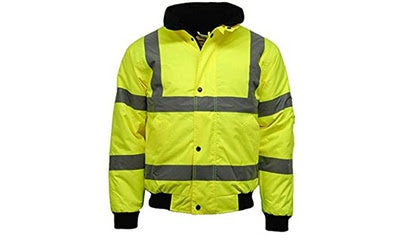 Hi Vis Bomber Jacket With Army Style Zip And Pen Holder On Arm (Denmark) - StepAhead Workwear