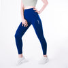 Step Ahead Women's Seamless High Waisted Deep Blue Work Out Leggings