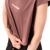 Step Ahead Maroon Crop T-shirt