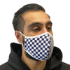 Step Ahead Reusable Navy Checkered Face Mask