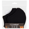 5 x Pack Step Ahead Reusable Black Face Mask