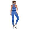Step Ahead Women's Blue Gym Set
