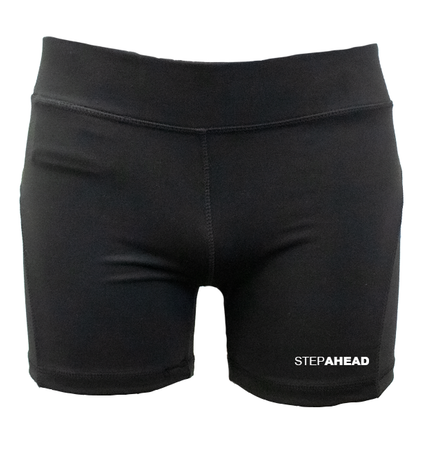 STEPAHEAD Womens Black Excercise Shorts (Tight Fit)