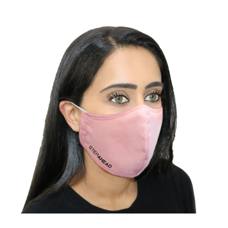 STEP AHEAD Face Mask Adult Reusable Pink