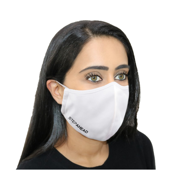 STEPAHEAD Face Mask Adults Reusable White