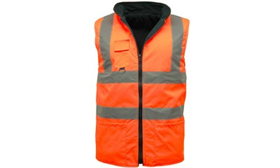 Hi Vis Fleece Lined Reversible Body Warmer (Antrim/Belfast) - StepAhead Workwear