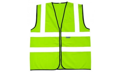 Hi Vis Vest Waistcoat 2 Band And Brace With Zip And ID Holder (Belgium)