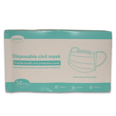 Civilian Disposable Face Masks (X50) - StepAhead Workwear