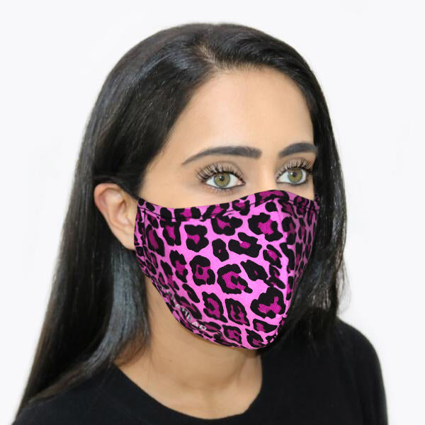 Step Ahead Reusable Face Mask Pink Leopard