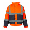 Step Ahead Hi Visibility Bomber Jacket Two Tone