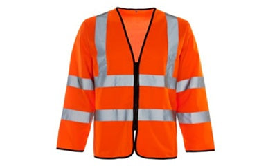 Hi Vis Long Sleeve Vest Waistcoat With Zip (Spain/Holland)
