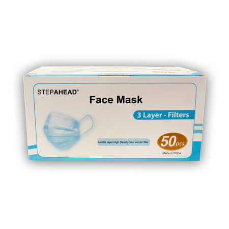 STEPAHEAD Disposable Face Masks (x50)