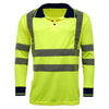 Step Ahead Hi Vis Long Sleeve Polo Shirt