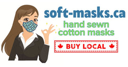 Hand sewn, beautifully crafted soft cotton fabric masks made in canada