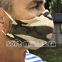 Camo - Beige Brown & Cream Mask