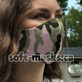 Camo - Pink & Greens Mask
