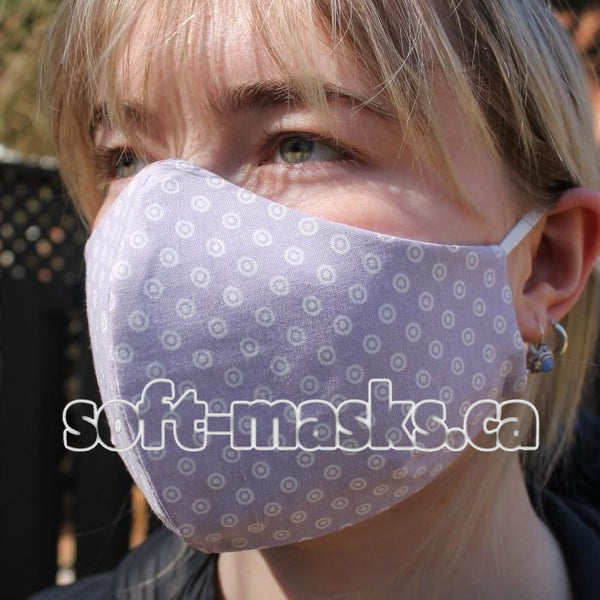Dots On Light Purple Mask