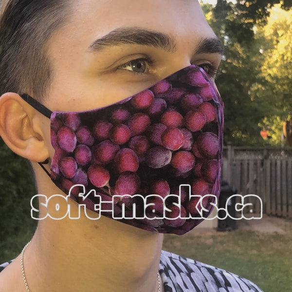 Endless Purple Grapes Mask