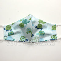 Kids Mask - Blue Turtles On