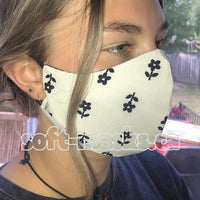 little flowers soft cotton fabric face mask