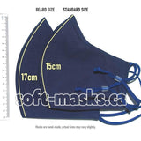 Navy Blue - Beard Size Mask
