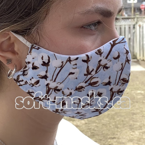 Pussy Willows On Powder Blue Mask